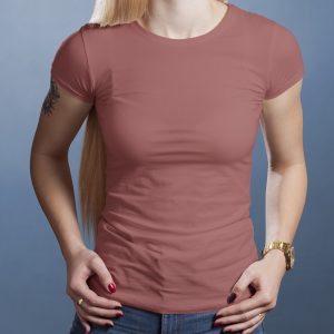 T-Shirt Printing Las Vegas C Neck Female Clay Triblend