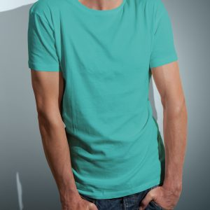 T-Shirt Printing Las Vegas C Neck Male Sea Green Triblend