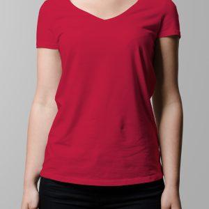 T-Shirt Printing Las Vegas V-Neck Female Grey Triblend