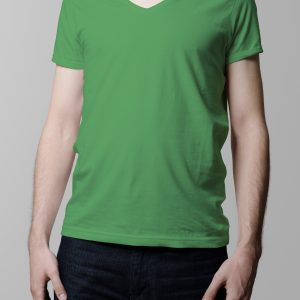 T-Shirt Printing Las Vegas V-Neck Male Green Triblend